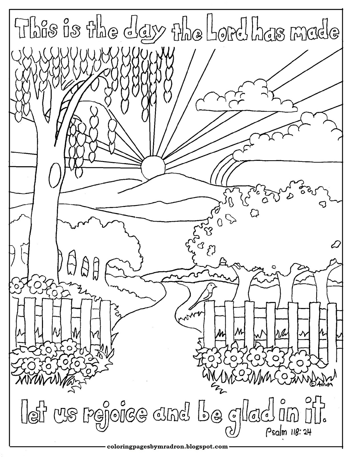 Coloring Pages for Kids by Mr. Adron: This is the Day The