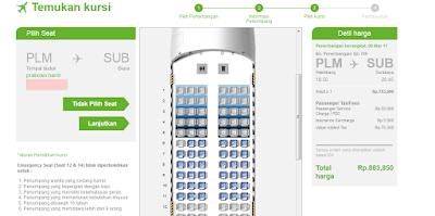 cara pilih kursi pesawat