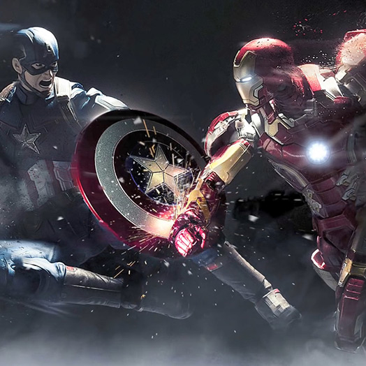Captain America vs Iron Man Wallpaper Engine