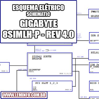 Esquema Elétrico Placa Mãe GIGABYTE 8SIMLH-P - REV 4.0 Motherboard Manual de Serviço  Service Manual schematic Diagram Placa Mãe GIGABYTE 8SIMLH-P - REV 4.0 Motherboard    Esquematico Placa Mãe GIGABYTE 8SIMLH-P - REV 4.0 Motherboard