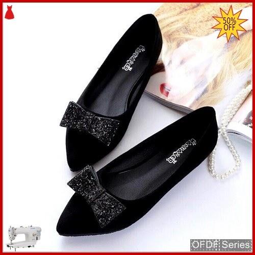 OFDF273 Sepatu Flat Velvet Suede Glitter Flatshoes BMGShop