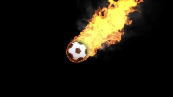 لقطات للمونتاج | كرة قدم ملتهبة