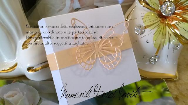 scatolina Scatoline PortaconfettiColore Bianco Colore Rosa Pesca Scatoline
