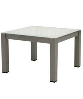 Briza Side Table Tempered Glass Top Aluminium Frame