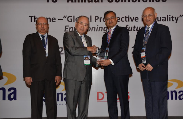 "NEIL - Mr. Rohit Saboo receives prestigious ""Ashoka Award"" for significant contribution to the quality management"
