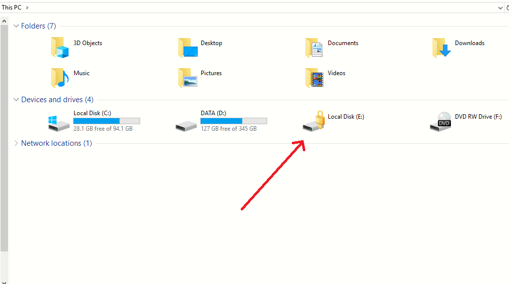 mengunci folder dan partisi windows 10