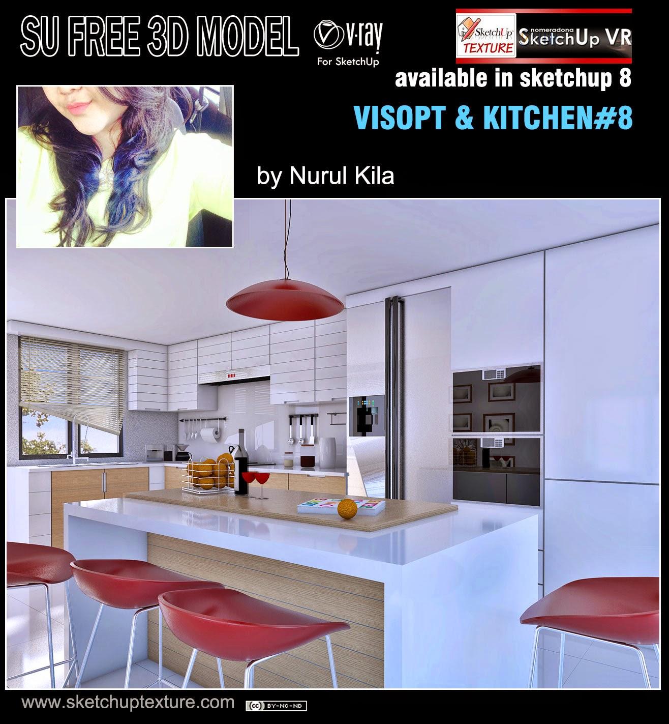 Free Sketchup Model Moderne Kitchen & Visopt #8