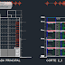 مخطط مشروع عمارة سكنية من 3 طوابق اوتوكاد dwg