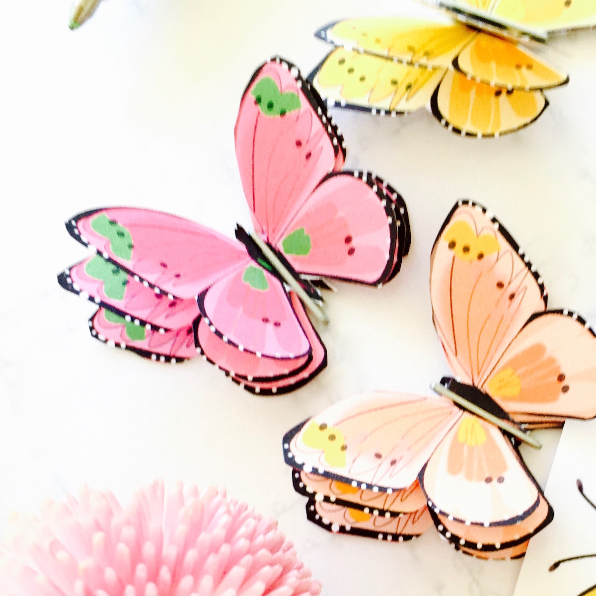 photo about Printable Butterfly Pictures named How in direction of generate a 3d paper erfly + no cost printable erfly