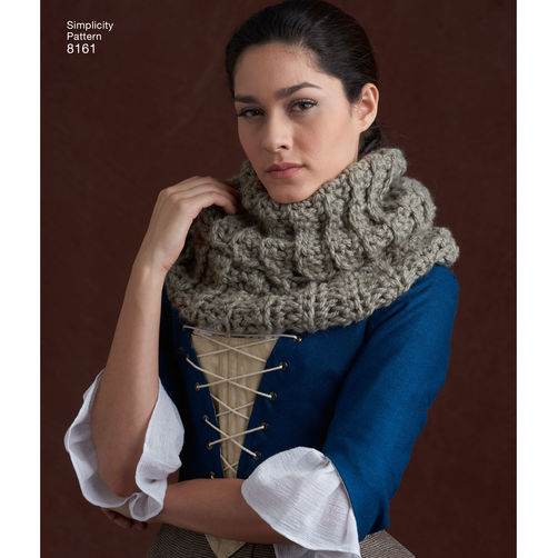 Outlander crochet cowl simplicity patterns by lazy daisy jones