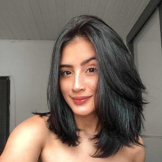 cabelo curto preto