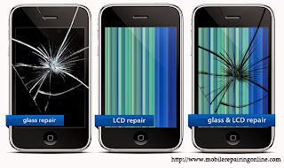 A Broken smart phone Screen