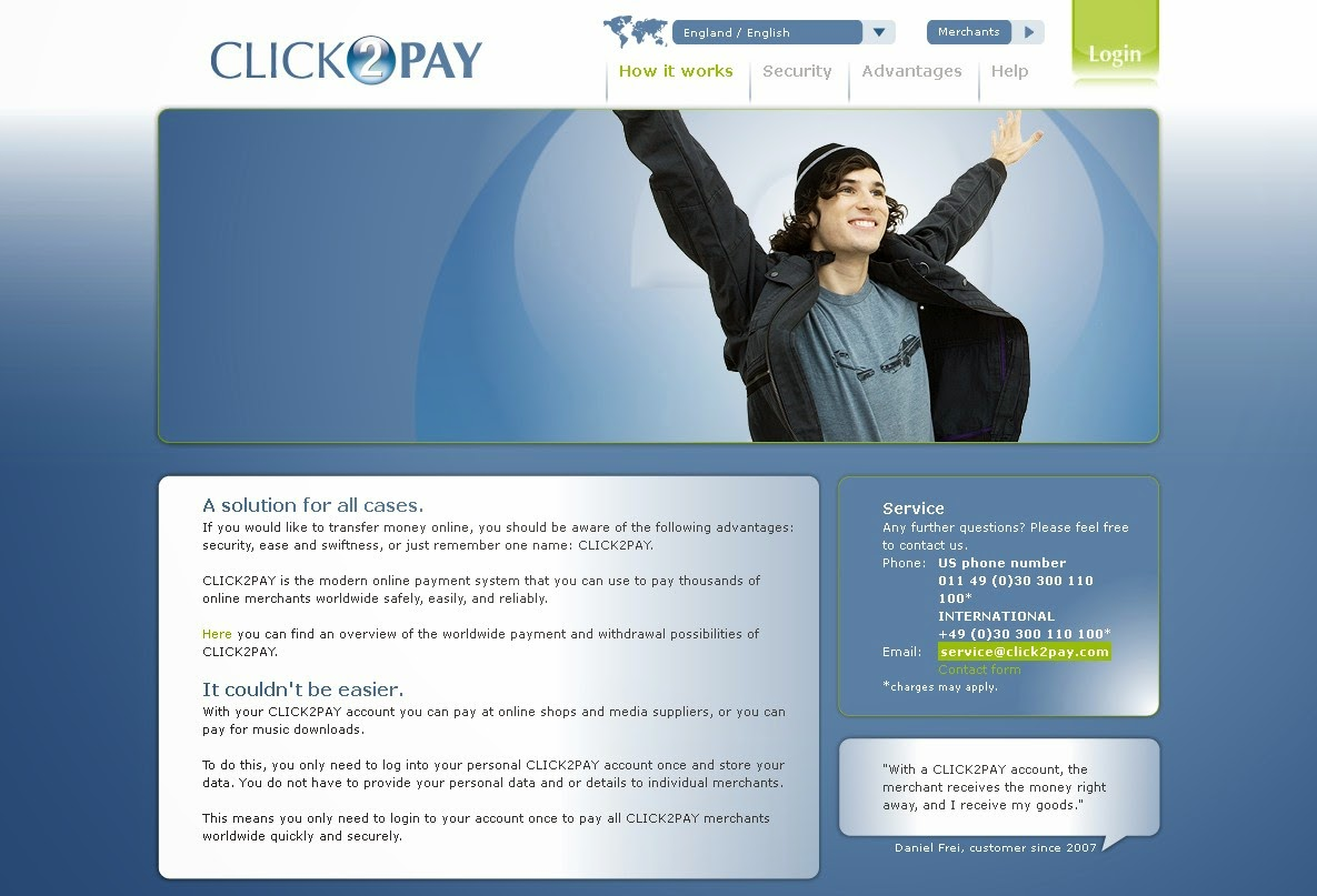 CLICK2PAY Screen