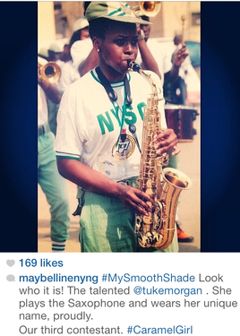 Female Saxophonist from Nigeria during NYSC