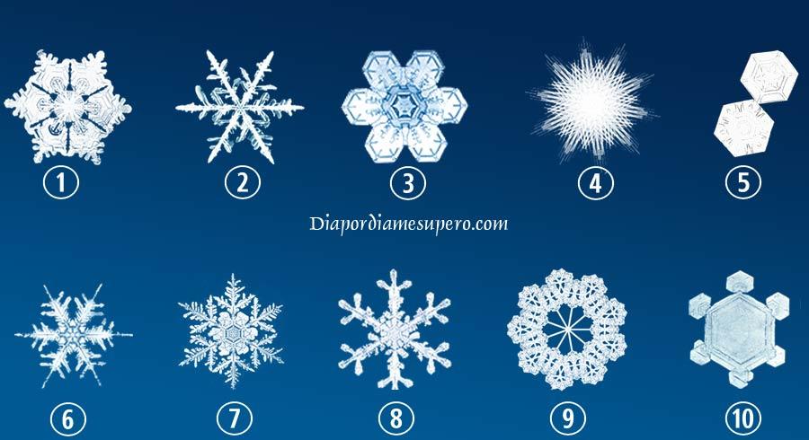 Elige el copo de nieve que más te guste y descubre algo interesante sobre ti