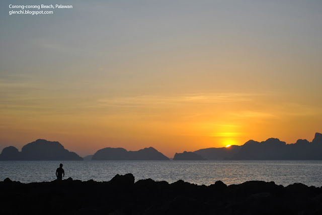 Corong Corong Beach El Nido Sunset