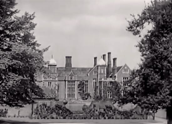 Screen grab of North Mymms house from the Wedding Rehearsal 1932