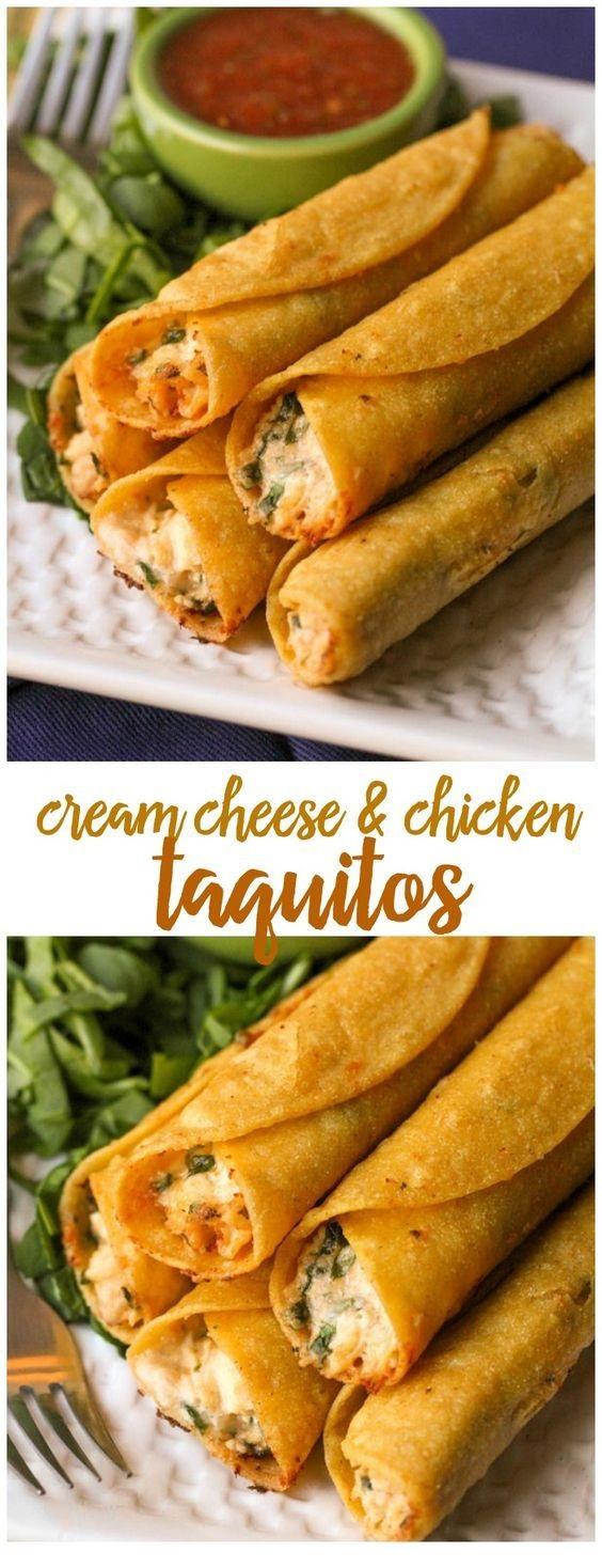 Cream Cheese And Chicken Taquitos Recipe