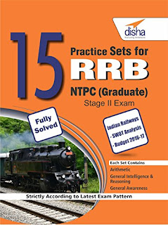 Download 15+ Practice Set for RRB NTPC Exam by Disha Publication PDF