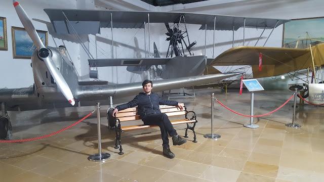 Harun İstenci İstanbul Havacılık Müzesinde. Ocak 2017