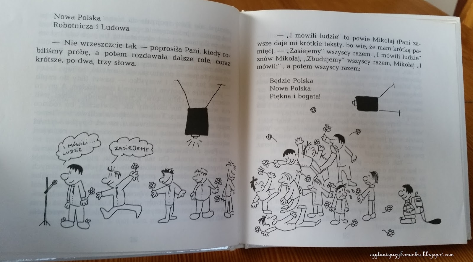 Czytanie Przy Kominku I Nie Tylko Mikołajek W Szkole Prl