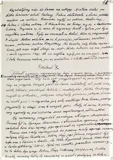 Fragment rękopisu wspomnień