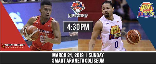PBA Live Score and Results: NorthPort vs. TNT - March 24, 2019
