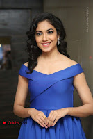 Actress Ritu Varma Pos in Blue Short Dress at Keshava Telugu Movie Audio Launch .COM 0053.jpg
