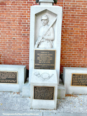 Civil War Memorials in Downtown Gettysburg