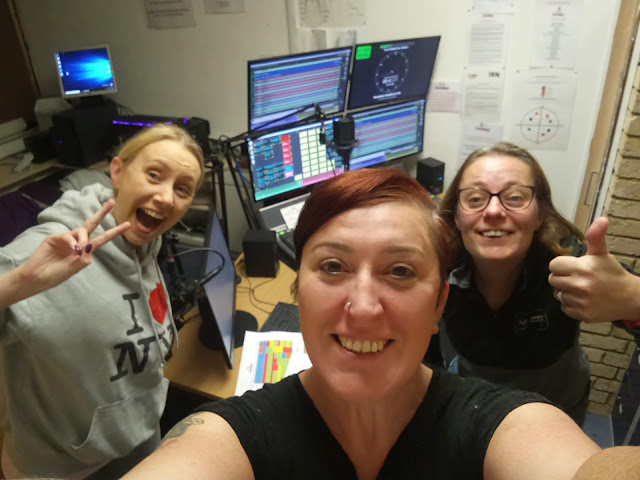 Live on Chorley FM : Wake Up To The Weekend - the girls take over the studio