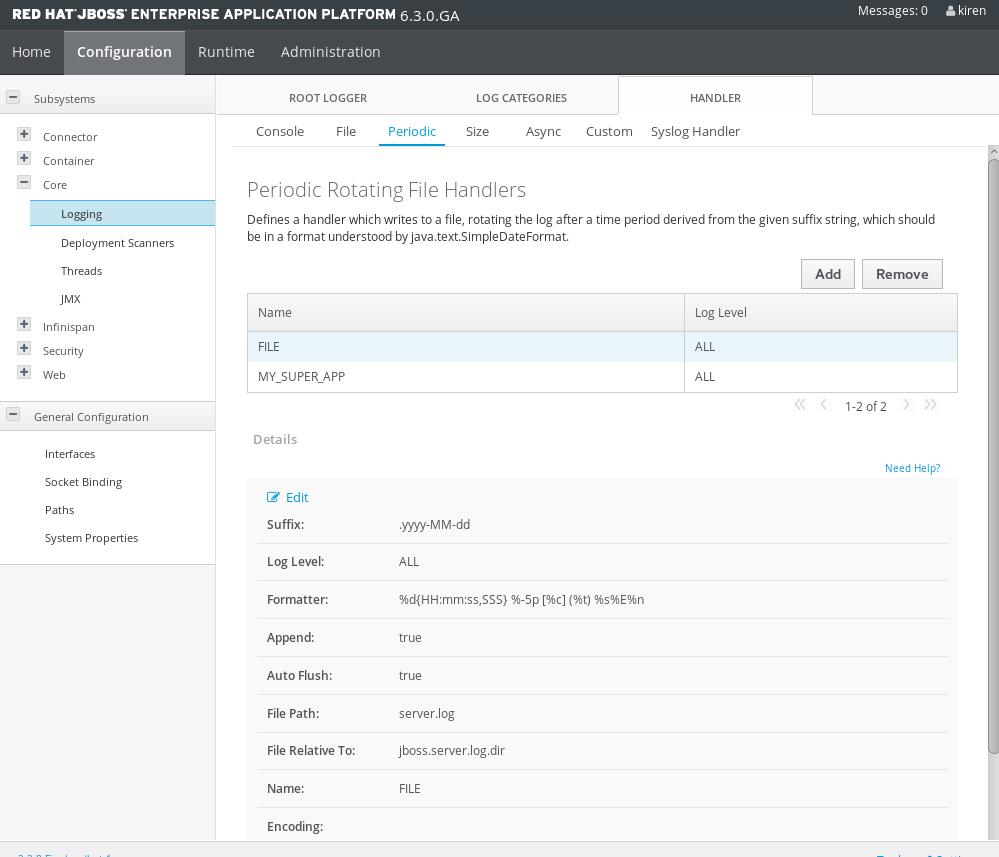 Software in a Nutshell: Configuring Log4j for JBOSS EAP 6