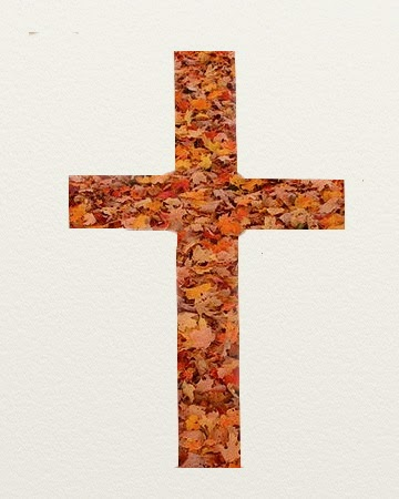 Cross of Autumn Leaves (cropped Photo)