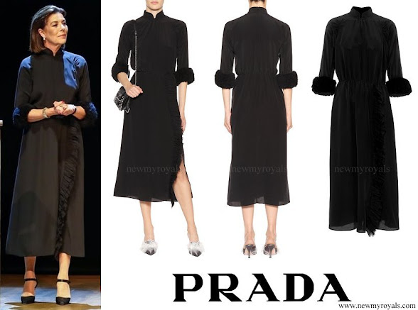 Princess Caroline wore PRADA Silk Dress