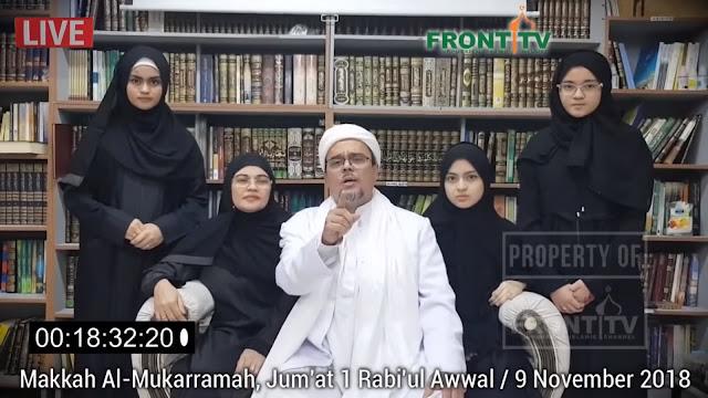 Habib Rizieq ke Jokowi: Tegakkan Keadilan, Jangan Hanya Fokus Pencitraan