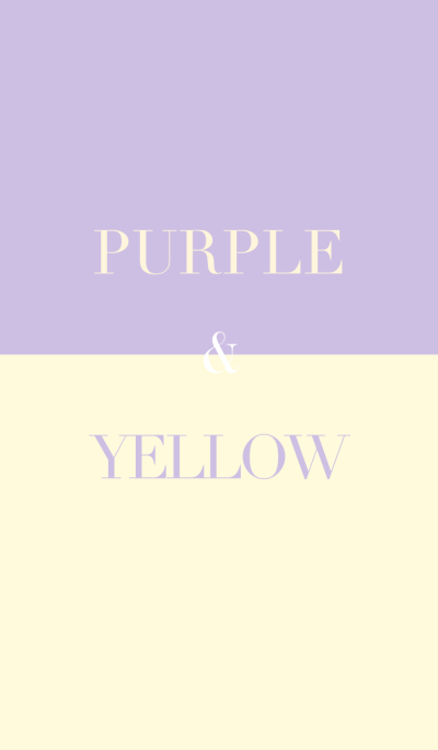 purple & yellow .