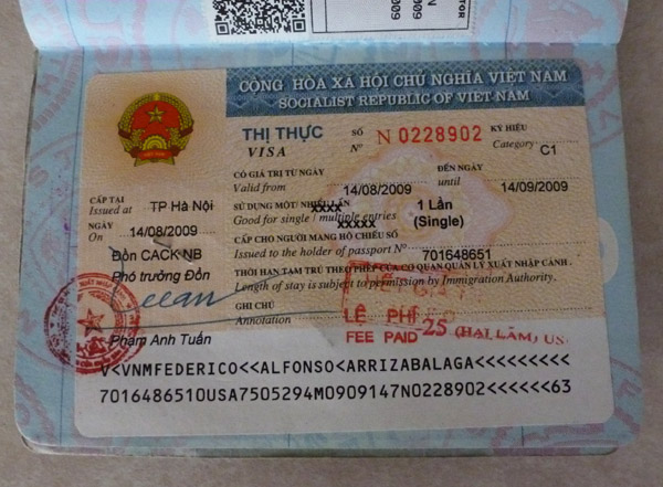 Vietnam visa requirements with regard to Traditional citizens