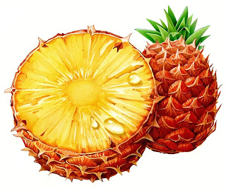 Ananas als hyperrealistische Illustration