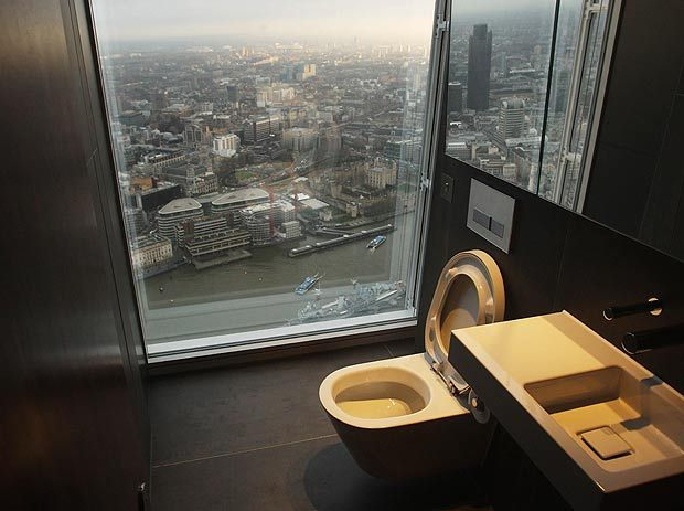 view from the toilet in the shard