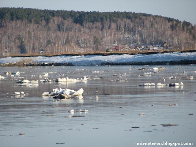 Река Томь - ледоход