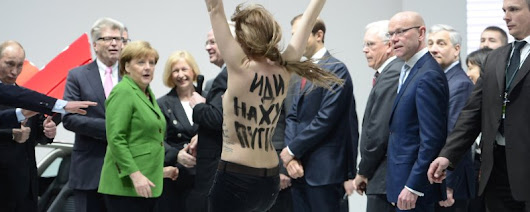 A Woman Protest Putin