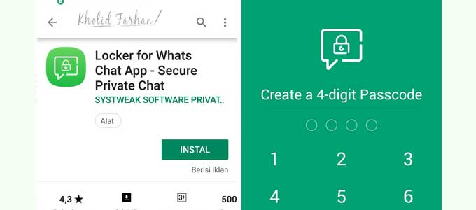 aplikasi locker for whatsapp dan pin code