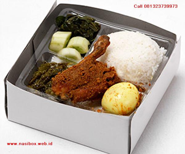 Nasi box ala rumah makan padang sederhana