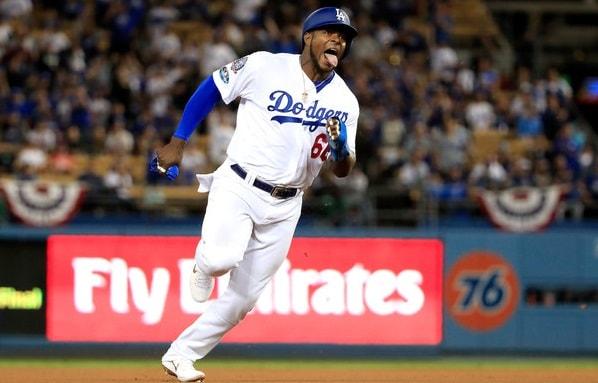 Puig se despide de Los Ángeles, después de seis temporadas, donde bateó 279, con 108 jonrones, 331 empujadas, 365 anotadas y 60 bases robadas en 712 juegos jugados