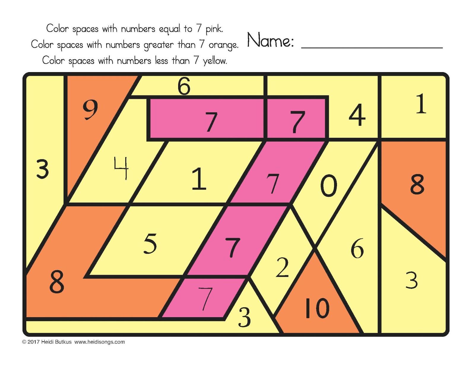 Find The Number 1 30 Worksheets