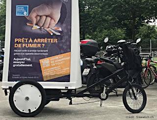 Opération pour arrêter de fumer à l'aide du vapotage à Genève mai 2018