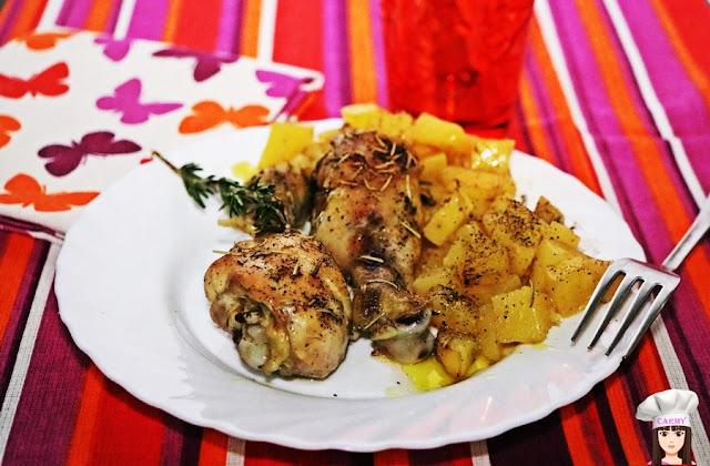 cosce-di-pollo-al-forno-con-patate