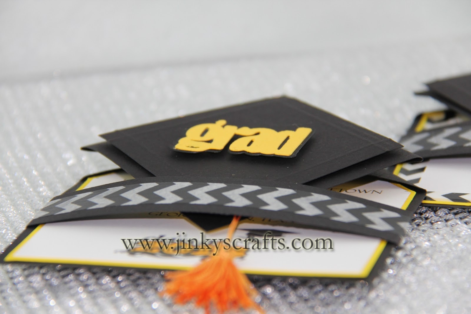 3D Graduation Cap Pop Up Invitations