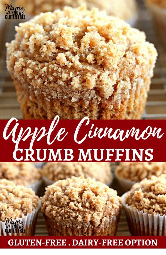 Free Apple Cinnamon Crumb Muffins