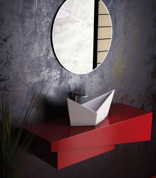 Lavoar de baie Olimpia, in forma de barca
