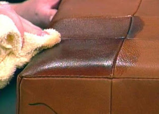 remove dark colored stains from leather couches